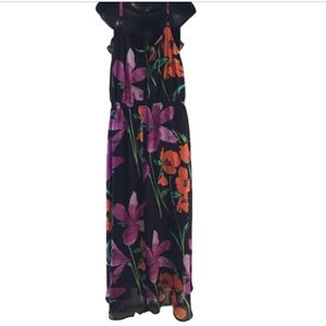 Lane Bryant Dresses - Lane Bryant Black Floral High Low Dress